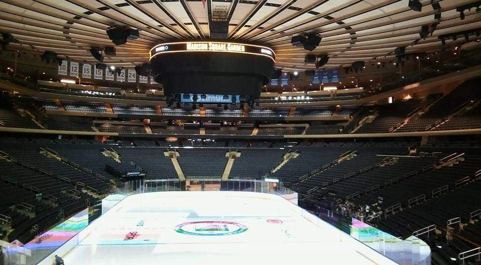 madison square garden ice hockey rink