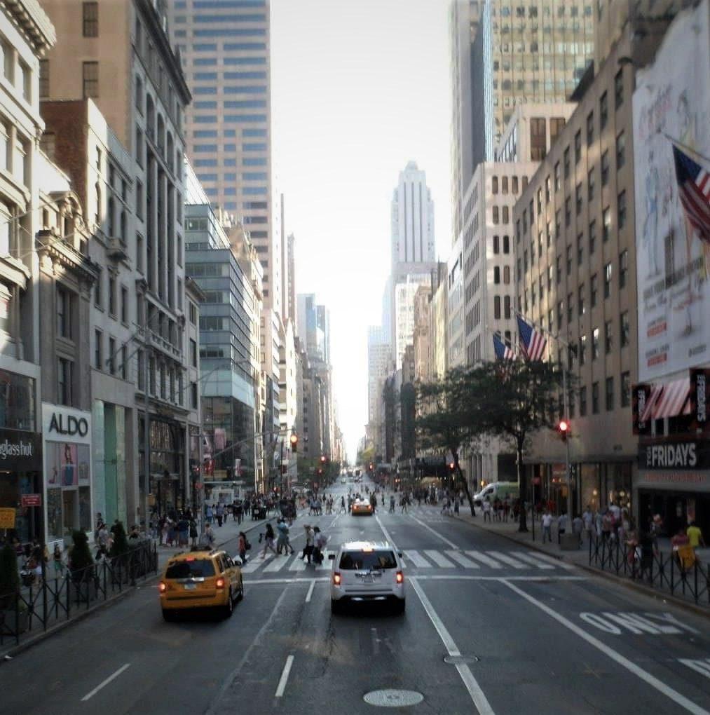 new york city street - Empire state building