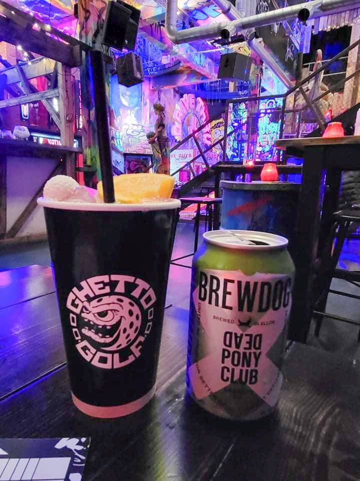 ghetto golf cocktail bar